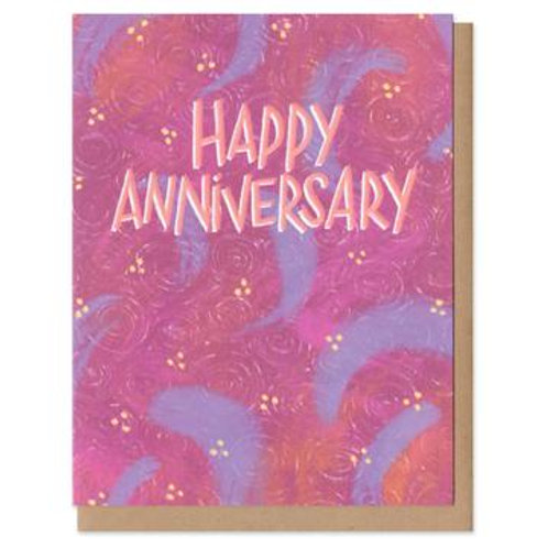 Happy Anniversary Colorful Greeting Card
