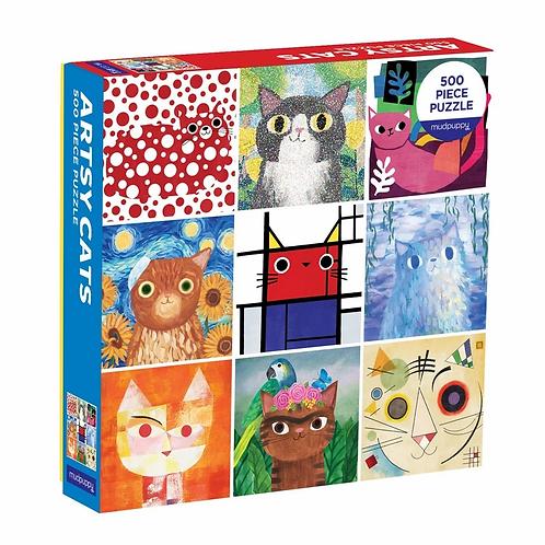 500 Piece Artsy Cats Puzzle