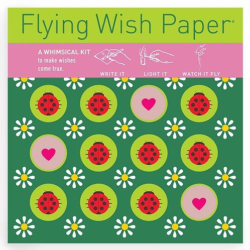 Ladybug Flying Wish Paper