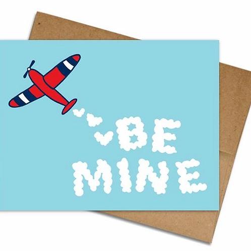 Be Mine Airplane Greeting Card