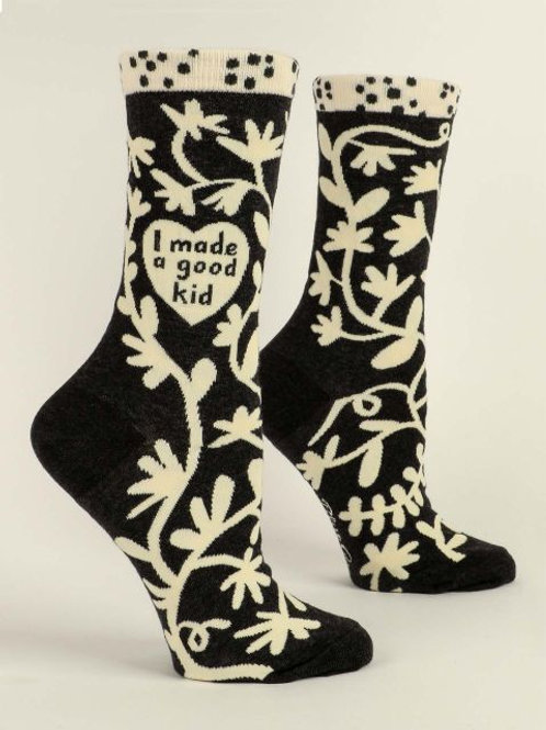 I Made a Good Kid Women's Crew Sock