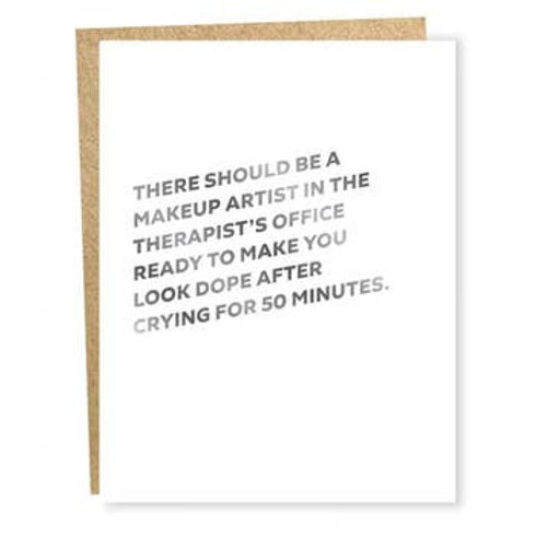 Make Up Artist At Therapist Foil Greeting Card