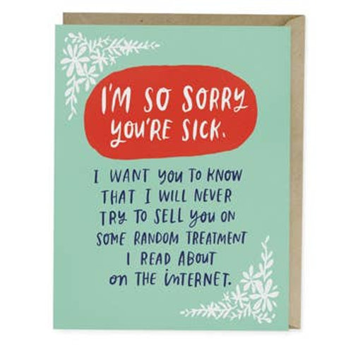 I Will Never Try To Sell You Random Treatment Greeting Card