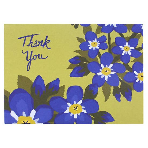 Thank You Forget Me Not Greeting Card
