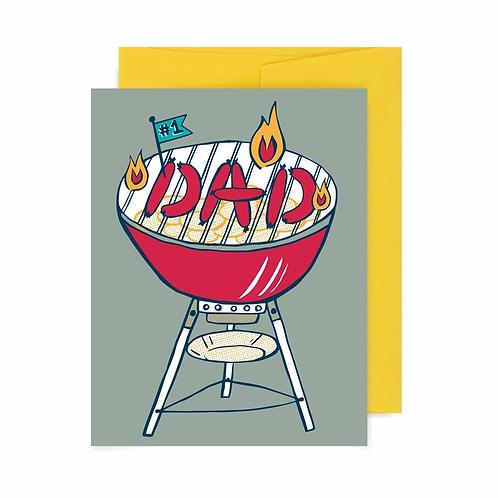 #1 Dad BBQ Greeting Card