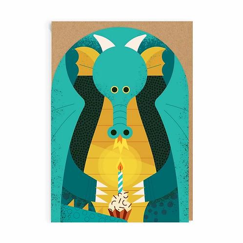 Birthday Dragon Greeting Card