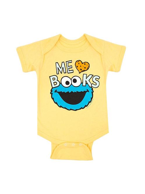 Me Love Books 6M Onesie
