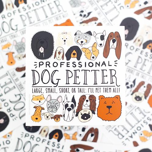 Professional Dog Petter Sticker