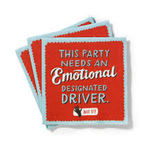 This Party Needs an Emotional Designated Driver Cocktail Napkins