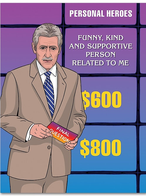 Jeopardy Who's the Best Dad Greeting Card