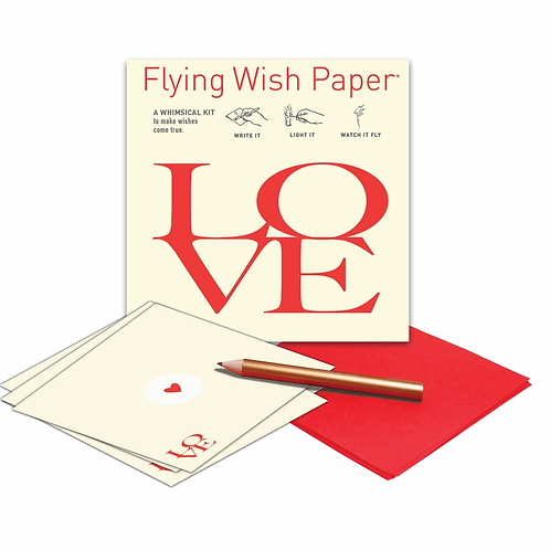 LOVE Flying Wish Paper