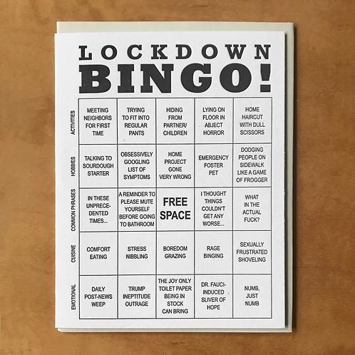Lockdown Bingo Greeting Card