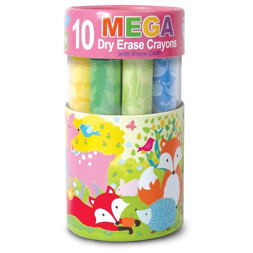 10 Fox & Friends Mega Dry Erase Crayons
