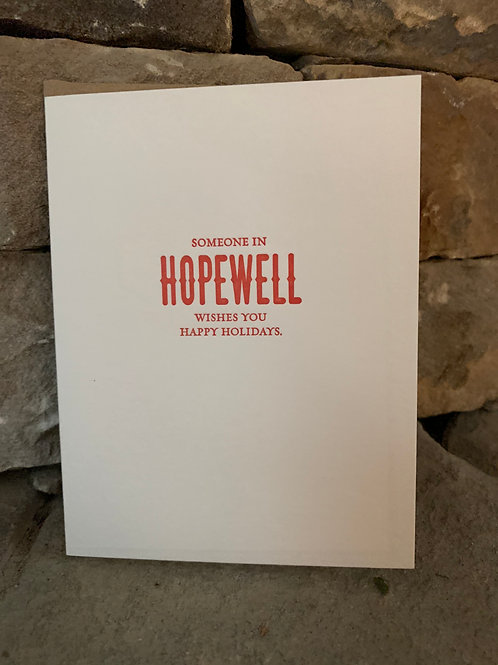 Someone In Hopewell Holidays Greeting Card