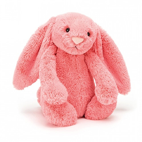 "Bashful Coral Bunny Medium 12"""