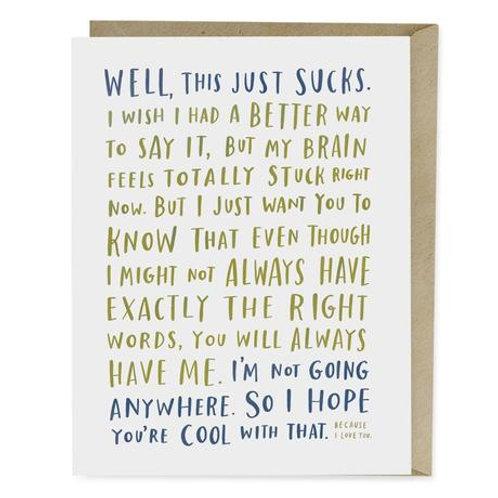 Awkward Sympathy Card