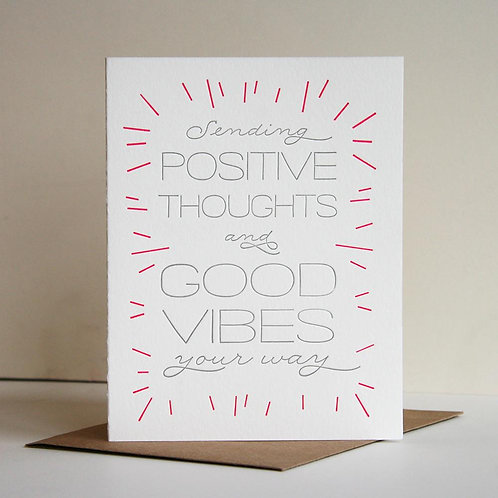 Sending Positive Thoughts & Good Vibes Greeting Card