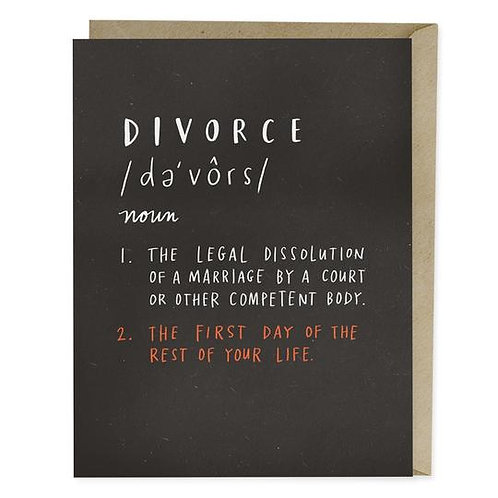 Definition of Divorce Greeting Card