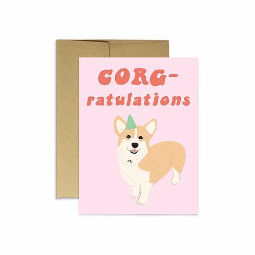 Corg-ratulations Greeting Card