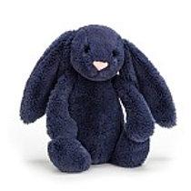 """Bashful Navy Bunny Medium 12"""""""