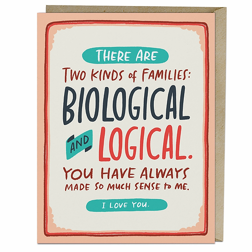 Biological And Logical Greeting Card