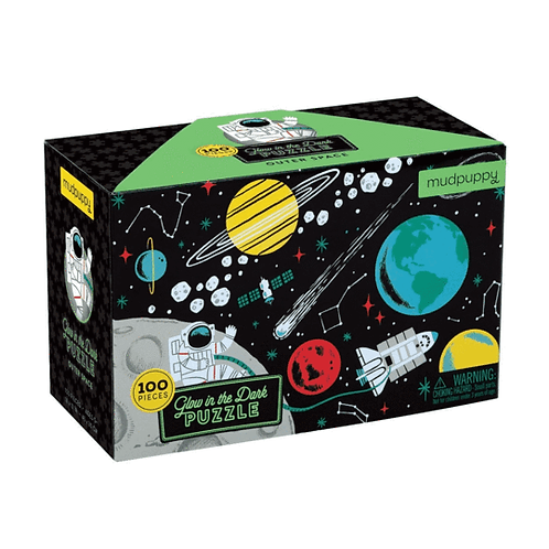 100 Piece Glow in the Dark Space Puzzle
