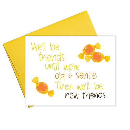Old and Senile Greeting Card