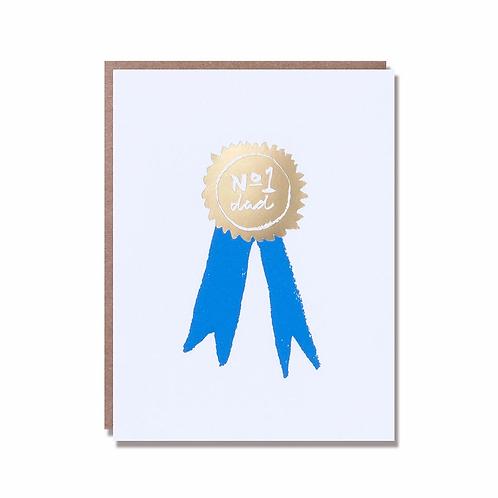 No. 1 Grad Gold Foil Greeting Card