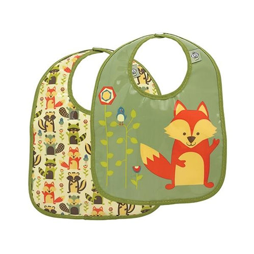 Fox Eat Bib Set of 2