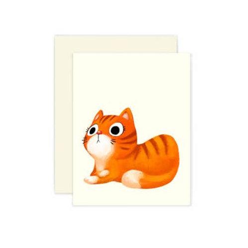 Orange Cat Blank Greeting Card