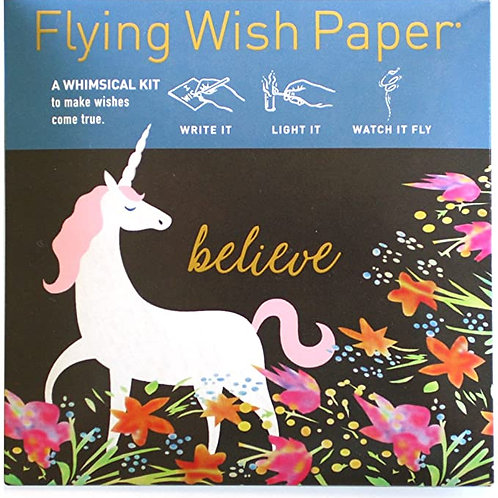 Unicorn Flying Wish Paper