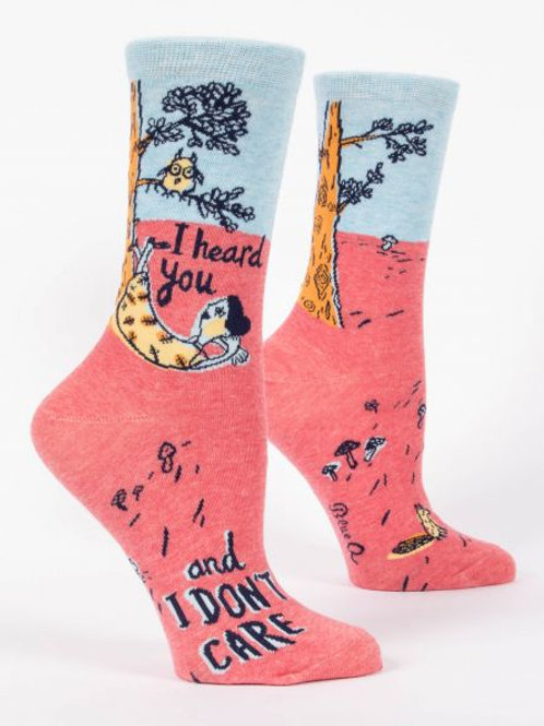 Women's I Heard You Don't Care Crew Sock
