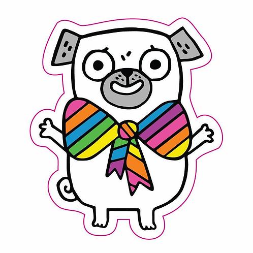 Pride Pug Sticker