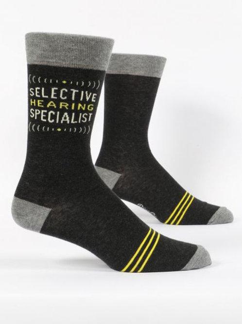 Men's Selective Hearing Specialist Crew Sock