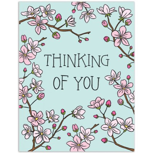 Thinking of You Cherry Blossom Greeting Card