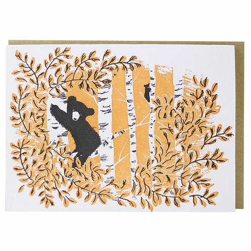 Bear in Tree Blank Notecard