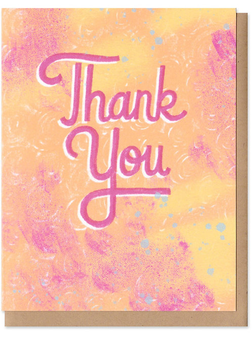 Thank You Pink Colorful