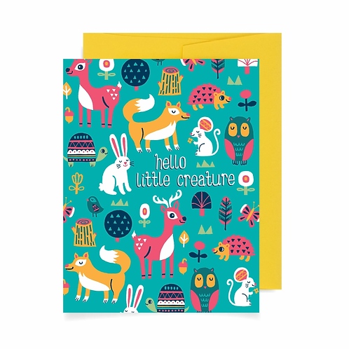 Hello Little Creature Greeting Card