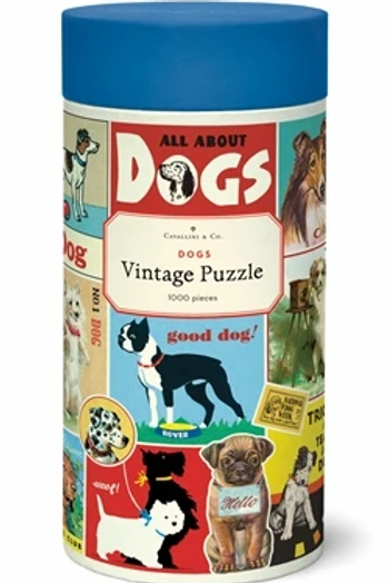 1000 Piece Vintage Dogs Puzzle