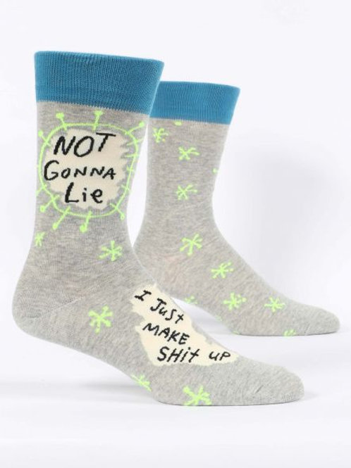 Men's Not Gonna Lie Make Shit Up Crew Sock