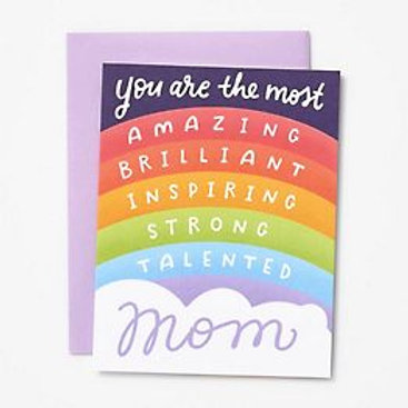 Most Amazing Brilliant Inspiring Mom Greeting Card