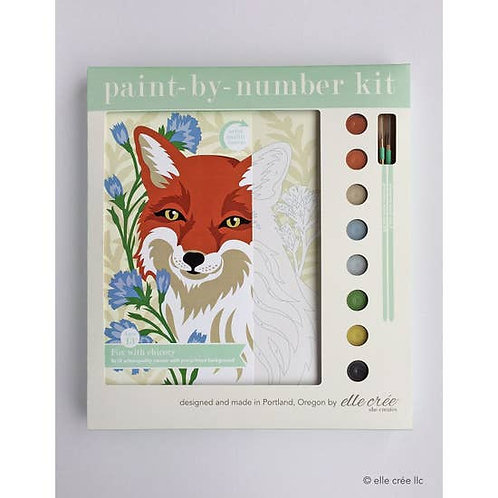 Fox with Chicory Paint By Number Kit