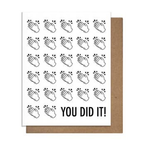 You Did It Hand Clap Greeting Card