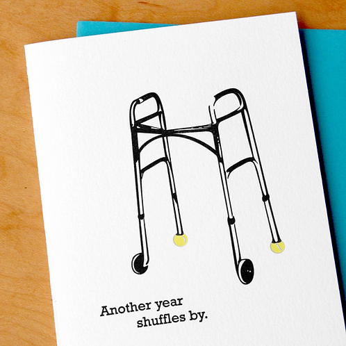 Another Year Shuffles By Greeting Card