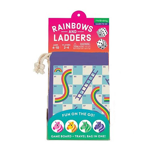 Rainbows and Ladders On the Go Game