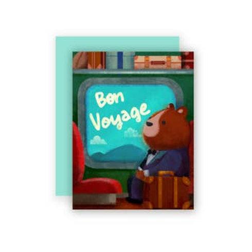 Bon Voyage Bear Greeting Card