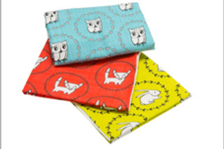 Meadow Friends Lil' Bitty Burp Cloth Set