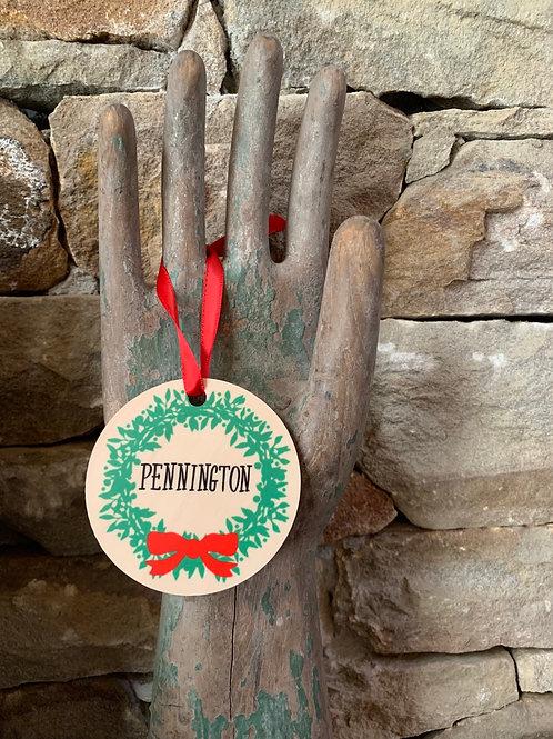 Pennington Wreath Ornament