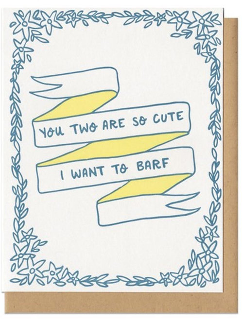 I Want to Barf Greeting Card