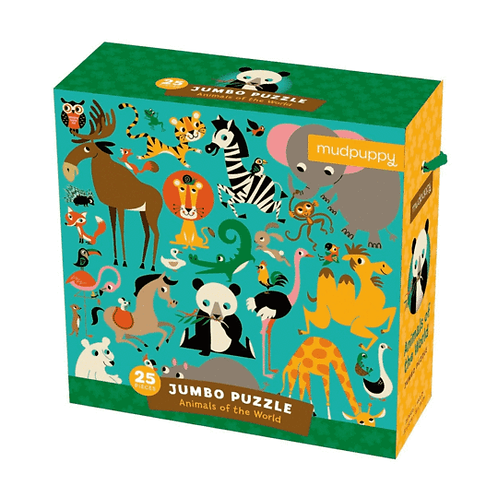 25 Piece Jumbo Animals of the World Puzzle
